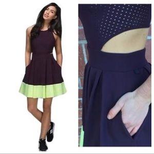 RARE Lululemon Away Dress-Black Cherry/Clear Mint!